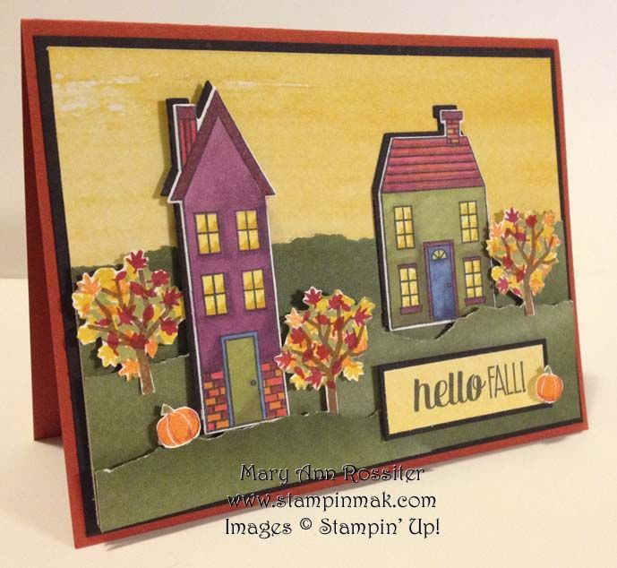 Happy Fall, Y'all Theme Challenge – PP212 | StampinMak - Holiday Home stamp set and dies from the 2014 Holiday Catalog by Stampin' Up.
