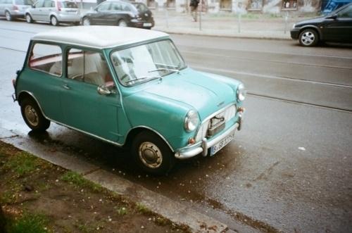 I would happily drive this little #aqua mini around.