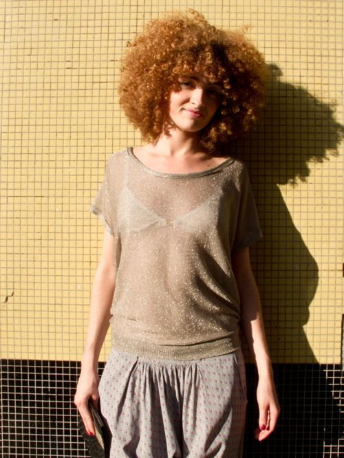 I wish more curly haired white girls wore afros. Afros for everyone. <3