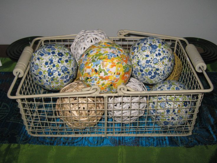 Fabric covered styrofoam balls