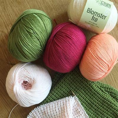 KIT - Tulipan Strik Strikkede Karklude / Mini Håndklæder