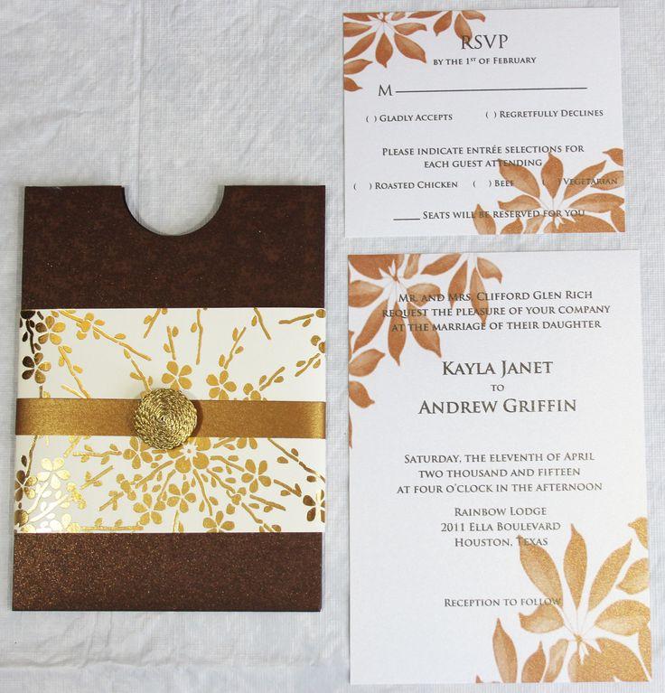 28 best Wedding invitations images on Pinterest | Bodas, Bridal ...