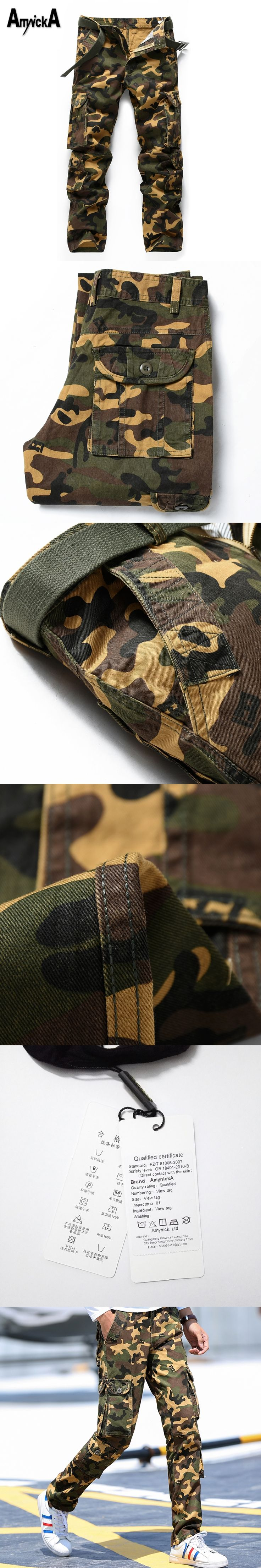 AmynickA Military camouflage Pants Mens Militar Tactical Cargo Pants Outdoor Pants Army Sport Pants Men Hiking Hunting LDS672