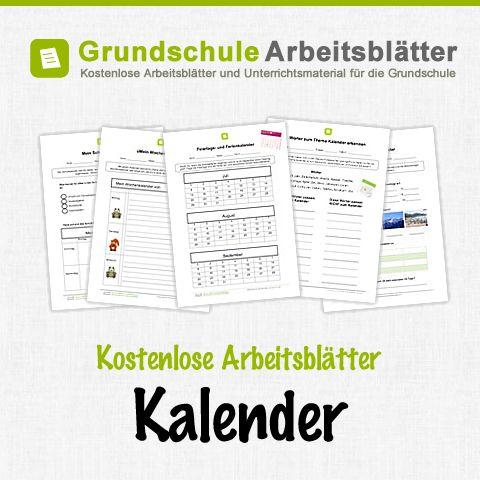 Kostenlose Arbeitsblätter und Unterrichtsmaterial für den Sachunterricht zum Thema Kalender in der Grundschule.