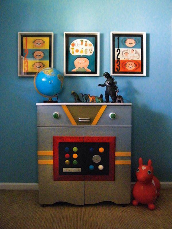 126 best ayden 39 s roo images on pinterest child room for Robot bedroom