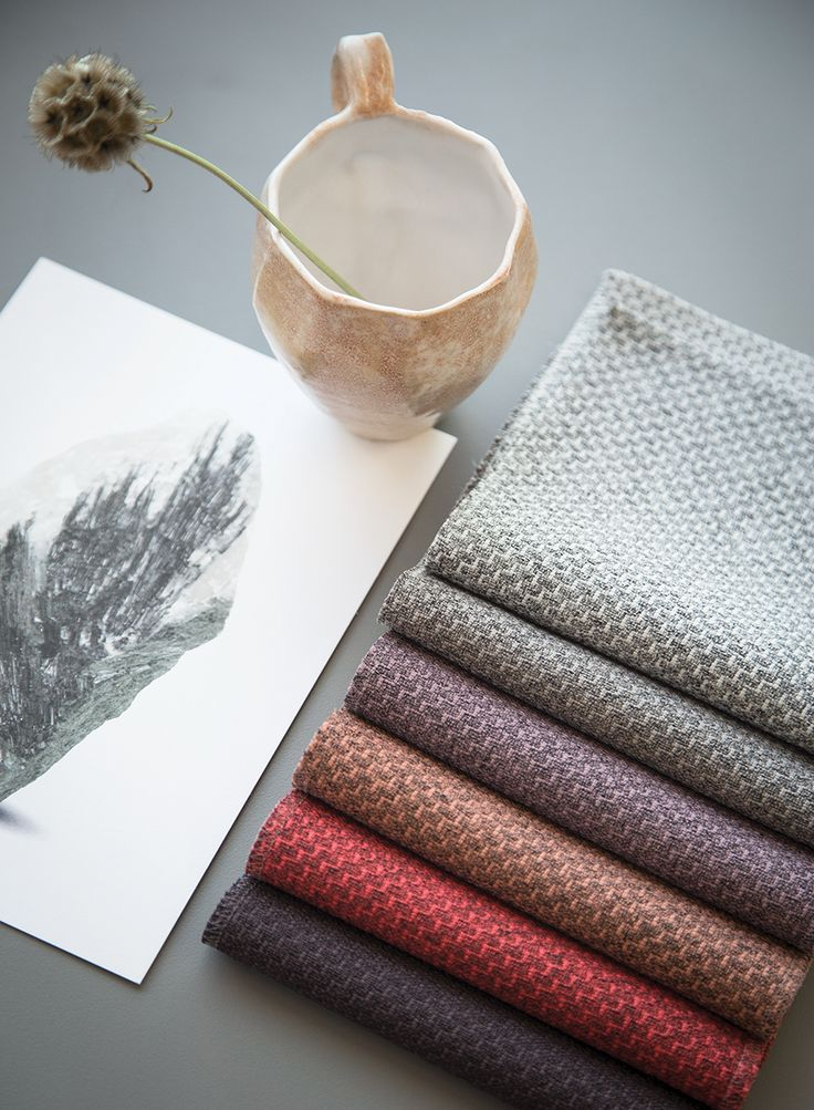 New fabric by Gabriel - Bond is a multifunctional upholstery fabric in a contemporary cross interior design, EU Ecolabel and Oeko-Tex certified and made from post consumer recycled polyester.