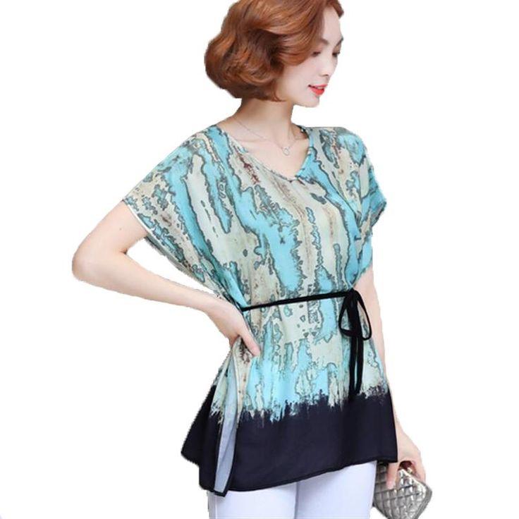 12.39$  Know more - L-6XL Plus Size New Summer Kimono Blouses Fashion Printed Women Shirts Blusas Tops Vintage Loose Batwing Sleeve Blusas Feminina   #aliexpress