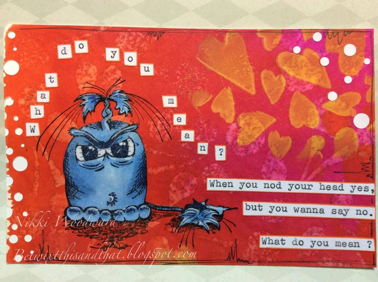 A little love for the Biebs in this song inspired postcard. Image by Smeared Ink