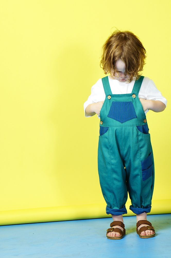 Special Edition dungarees in teal — What Mother Made