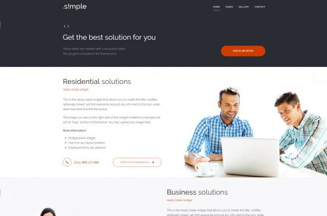 PE Simple - is an accessibility-ready WordPress theme mainly focused for business websites while it offers a simple clean and elegant layout. #WordPress #WCAG #section508 #theme #business
