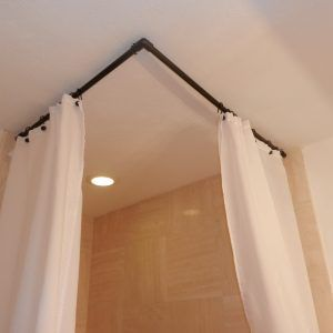 96 Curved Shower Curtain Rod