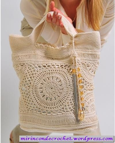 Beautiful Crochet Tote: Free Charts