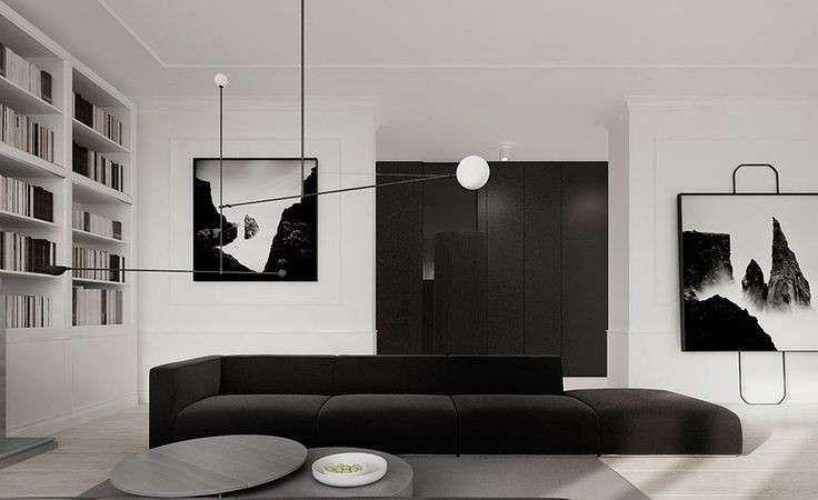 Arredamento minimal - Salotto bianco e nero