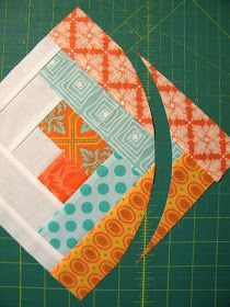 "Sew Kind Of Wonderful: ""Curve it up"" Log Cabin ~ Block #7"