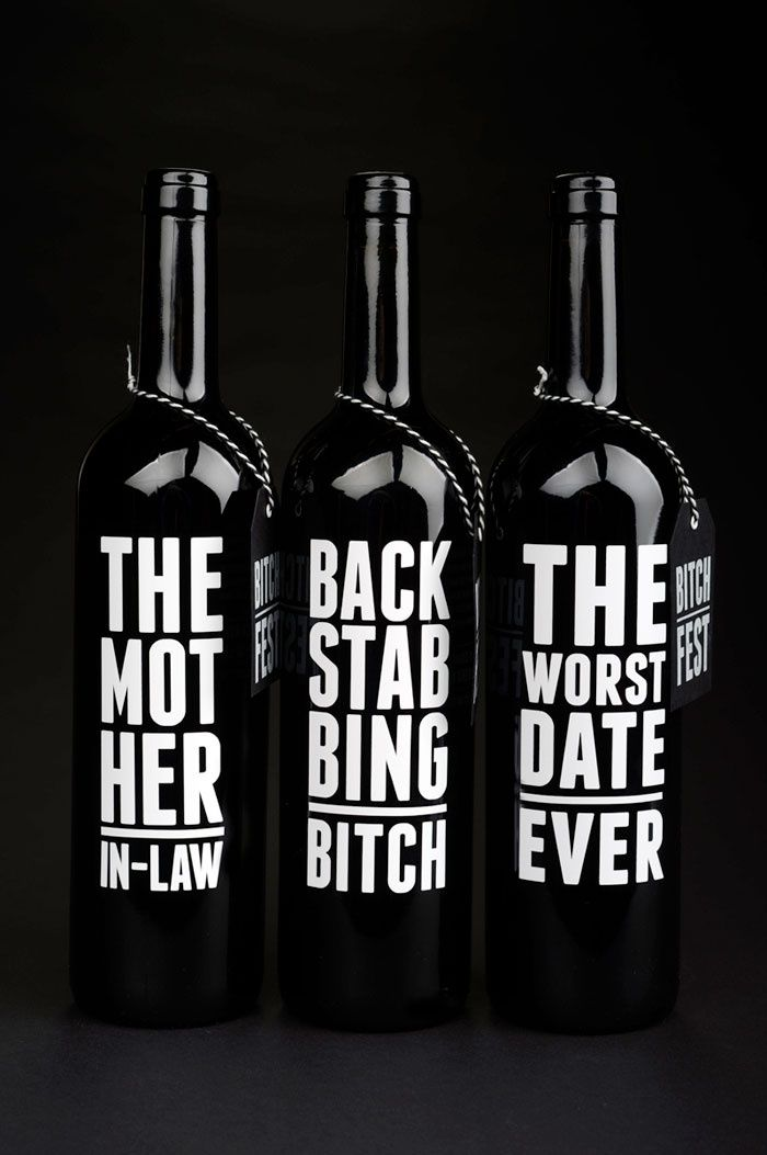 love these wine labels. Use funny/interesting names for the wines.