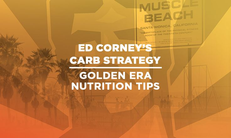 Ed Corney had a diligent carb strategy. He would eat about 150 g of carbs per day, but only early in the day, leaving the evening for mostly protein. Pre-contest, Corney would drop down to 25-50 g of carbs per day.  Keep it Old School – www.oldschoollabs.com/?utm_content=buffer21408&utm_medium=social&utm_source=pinterest.com&utm_campaign=buffer