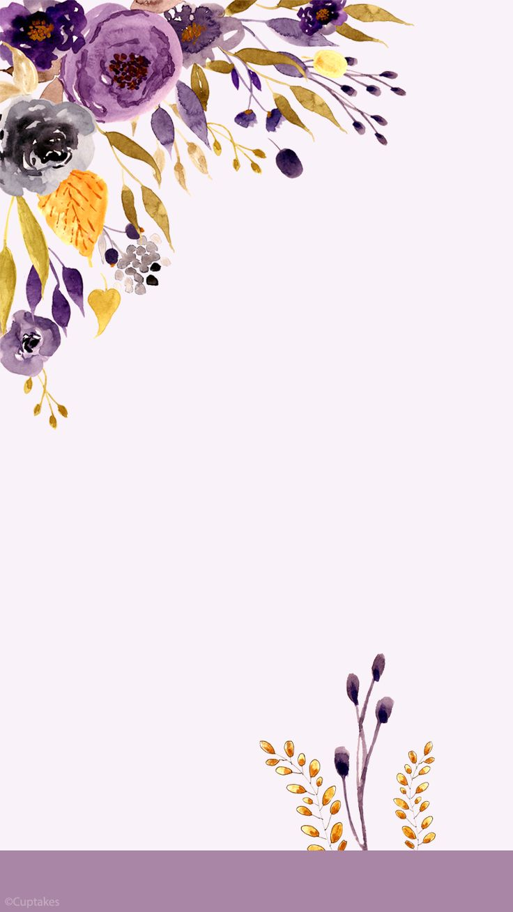 Floral (Cuptakes) ~ wallpaper/lock screen/background