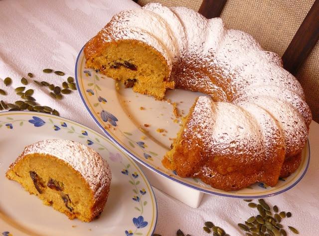 Vicky Cake Amor: Bundt Cake de Calabaza y Ciruelas Pasas (¡¡¡y buena noticia!!!! ^ ^)
