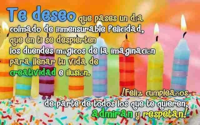 Saludos originales para desear un cumpleaños feliz Lugares para visitar Pinterest Frases