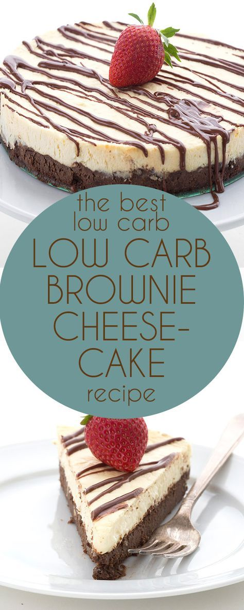 This is simply the BEST low carb cheesecake recipe. Grain-free brownie crust and creamy sugar-free vanilla cheesecake. LCHF Keto Banting THM recipe. via @dreamaboutfood(Paleo Brownies Easy)