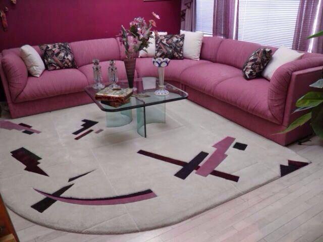 80s Girl Fushia Pink Amp Black Contemporary Living Room