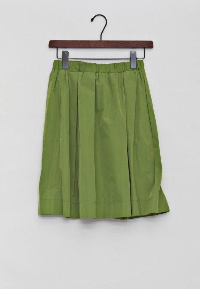 タフタギャザースカート OLIVE