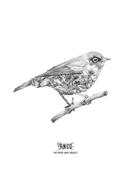 The Paper Rain Project // FNSQ ~ Waxeye Giclee