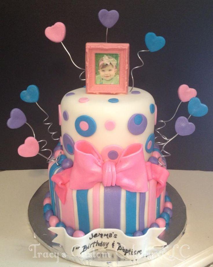 First Birthday & Baptism Cake