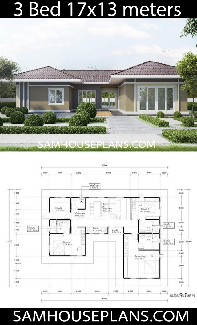 House Plans Idea 17x13 With 3 Bedrooms Sam House Plans House Plans Facade House New House Plans