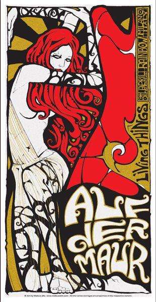 auf der maur band posters   Malleus – Rock Art Lab   Paint It Black