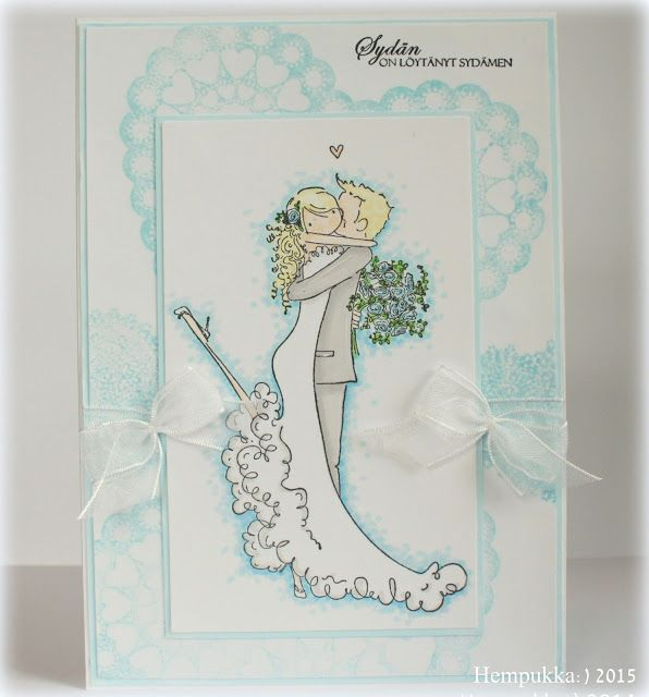Stamping Bella, wedding card