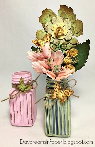 Daydreams In Paper: Tattered Florals arrangement