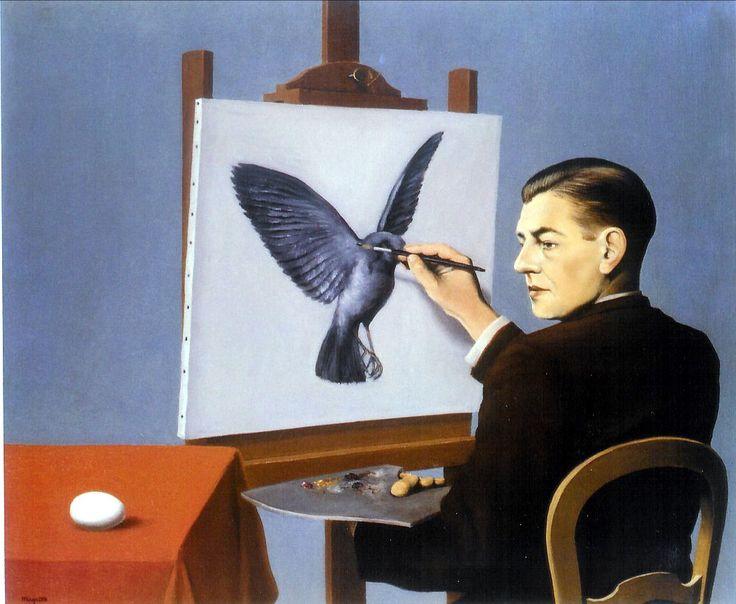Clarividencia - René Magritte 🦄🐜🐜🦄🦄Rene Magritte : More At FOSTERGINGER @ Pinterest🦀🦀🐛🕷🐝🐤🐍