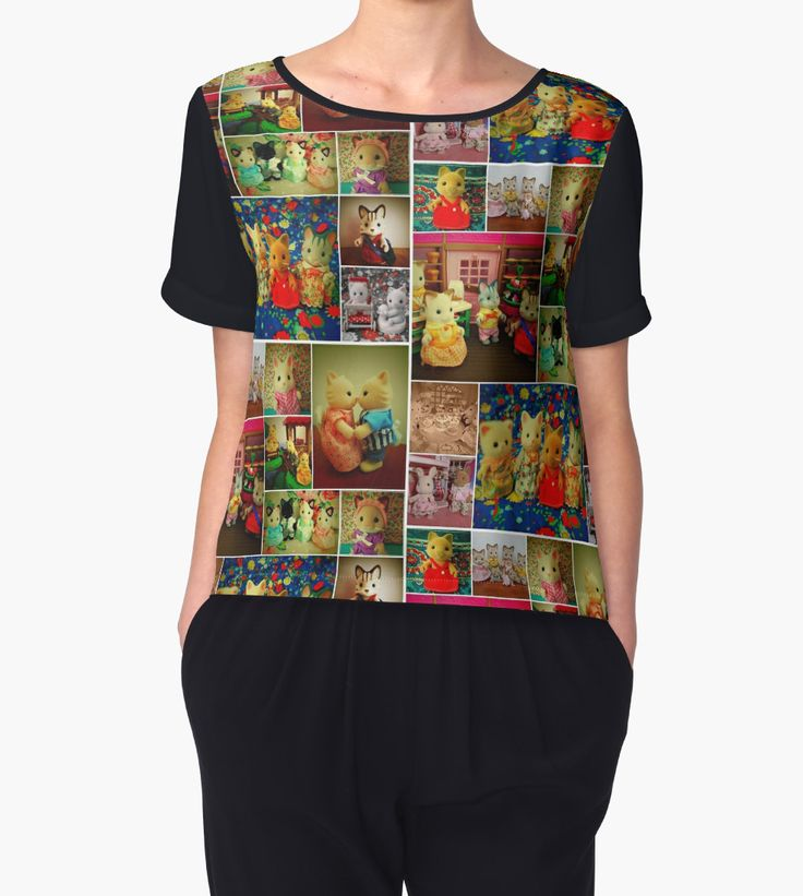 """""""Sylvanian Families ~ Cats"""" Chiffon Tops by Forever Feline 