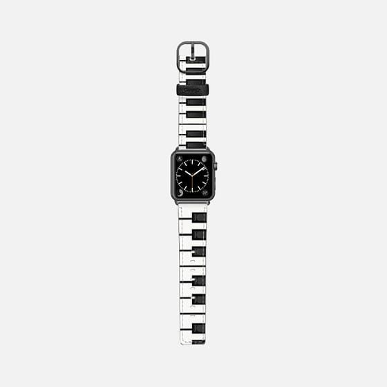 Casetify Apple Watch Band (38mm) Saffiano Leather Watch Band - Piano Man by Christy Leigh