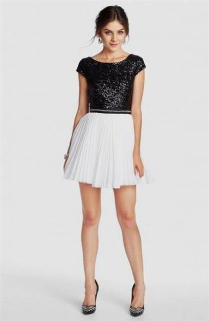 Awesome black and white dress for juniors 2018/2019