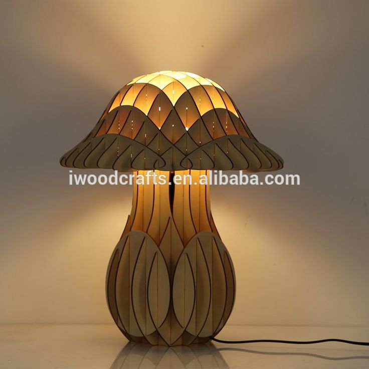 2016 Wood mushrrom table lamp, table lamp for home decoration