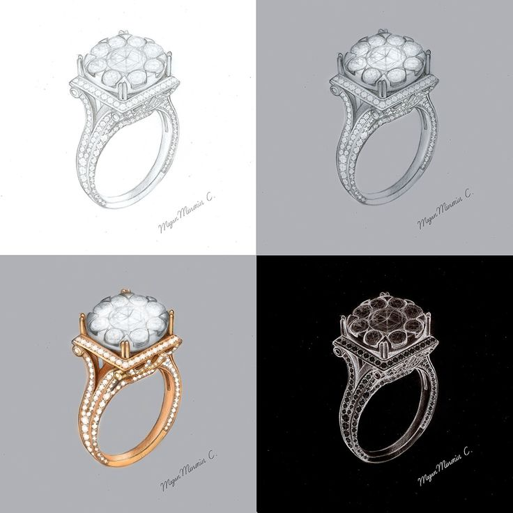 Lotus Diamond Ring - Megan Minmin C.