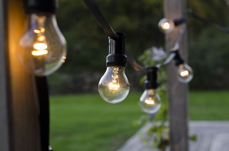 Light bulb strand for both indoor and outdoor use #lagerhaus #2014
