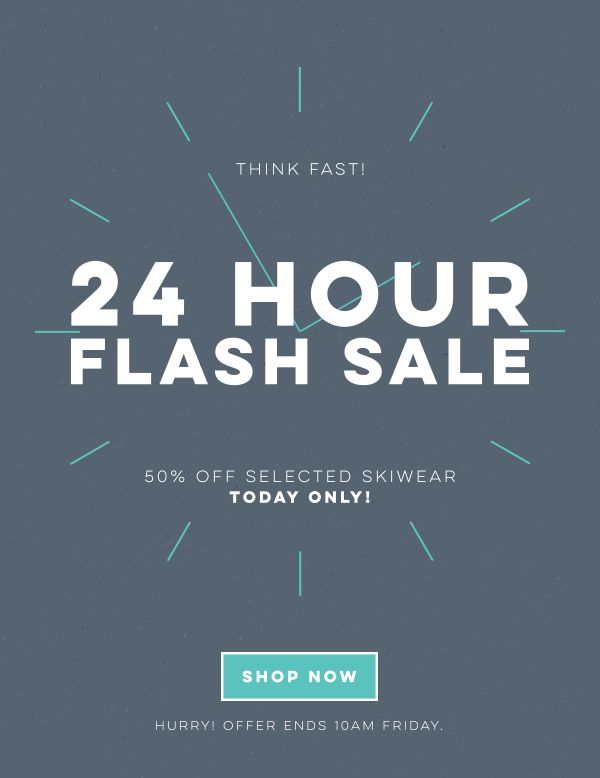24 hour flash sale newsletter