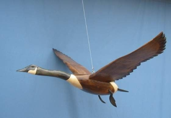 Hand carved Flying Canada Goose decoy by RobertKellyCarvings, $179.99