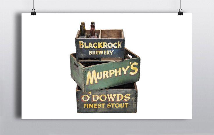 O'Dowd's 24 bottle Stout Crate (53cmx35cm)  Green Murphy's 24 bottle Crate (53cmx35cm)  Blackrock Brewery Crate (40cmx25cm)  Flat black crate (45cmx30cm)  2 x Jameson Ice Buckets http://www.prophouse.ie/portfolio/beer-crates/