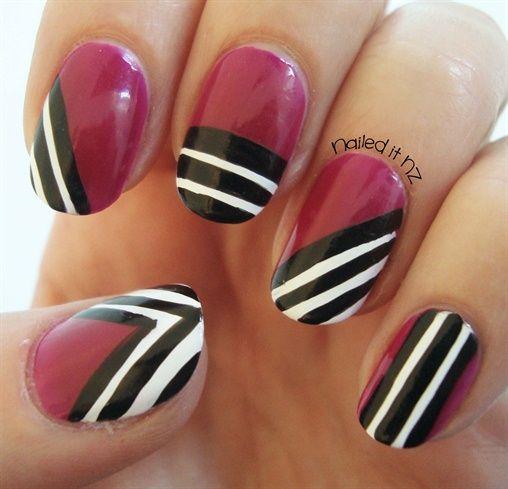 Modern pink nail art! - Nail Art Gallery by NAILS Magazine