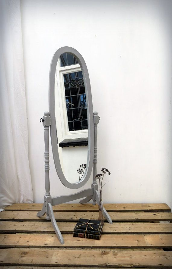 Vintage Cheval Mirror Full Length Floor Standing