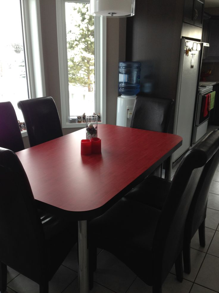 Perry built us a Red Table so we would have a splash of color.
