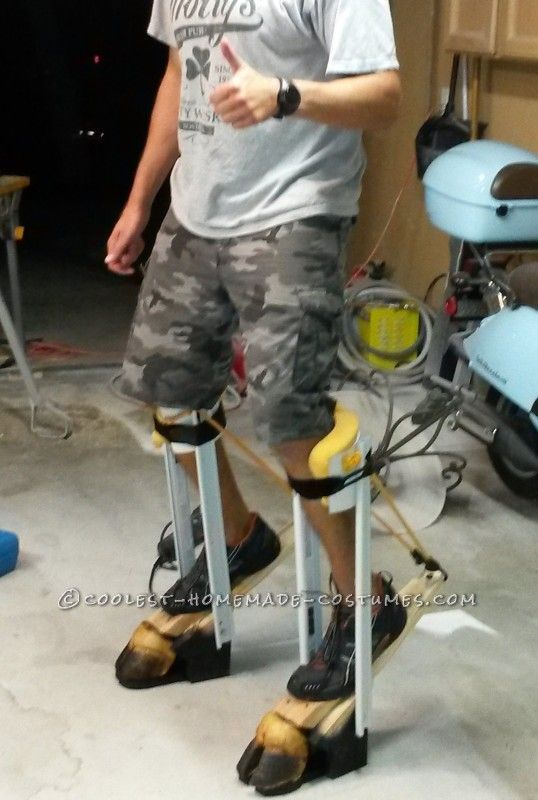 how to make stilts out of wood