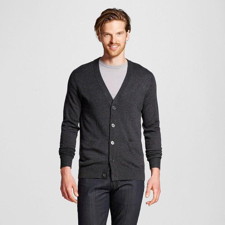Men's Cardigan Charcoal Grey Xxl - Merona