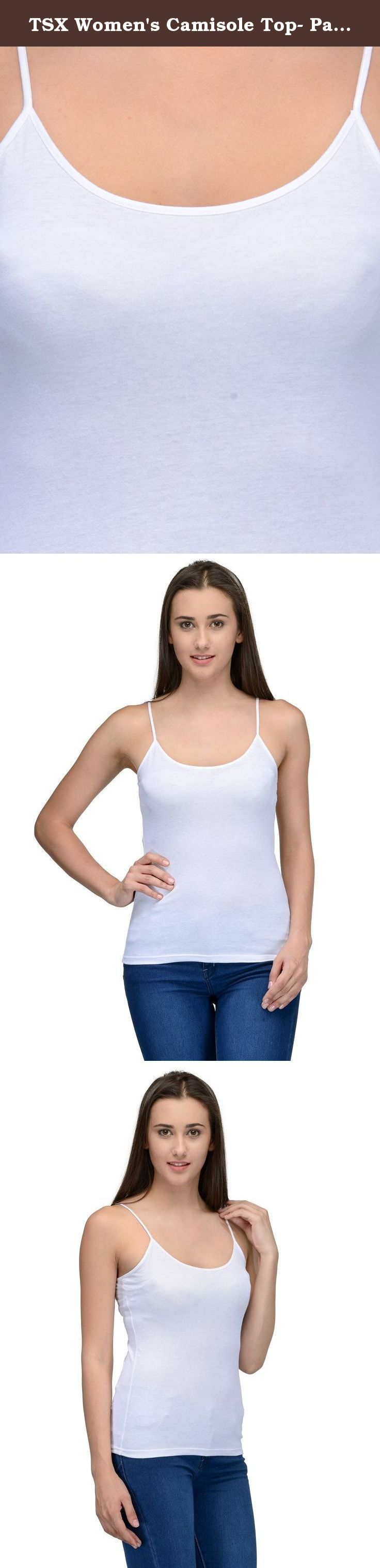 TSX Women's Camisole Top- Pack of 6. Launching our women camisoles made out of very soft poly cotton fabric for the modern day women. Our noodle strap tops or camisoles are made to be worn as innerwear or even outerwear during the summers. Pair these up with shorts, jeggings, denims for the ultra cool look.