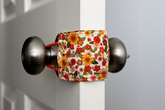 Door Jammer for a quiet nursery door! :)