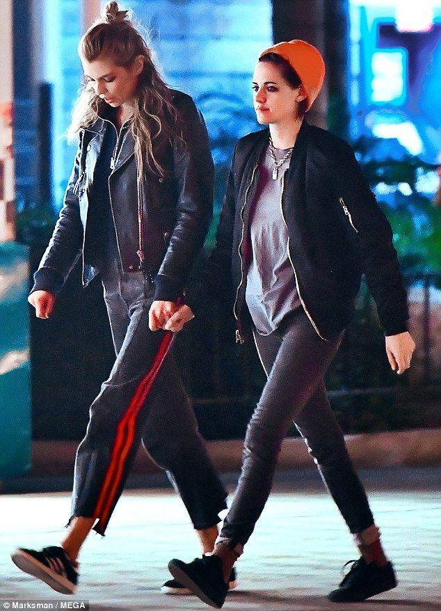 Amusement park life: Kristen Stewart treatedStella Maxwell to a night out at a California amusement park on Monday
